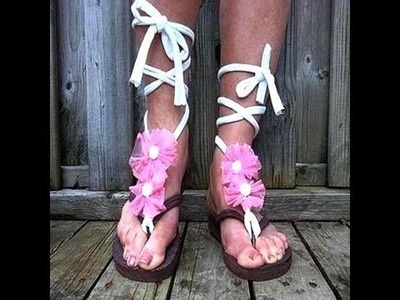 Girls pink flower flip flops, how to diy, dress up flip flops, summer sandals