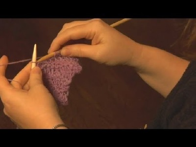How to Knit a Short Row Scarf : Knitting a Scarf