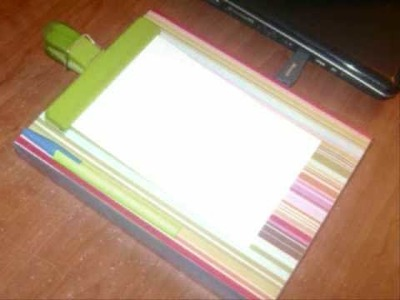 How to make a custom clipboard with a shoebox lid - EP