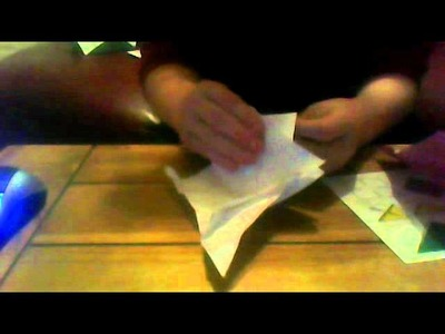 How to make a origami bird finger puppet
