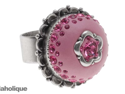 "How to Make a ""Tuffet"" Ring using Crystal Clay, Chatons, and a Bezel Ring"