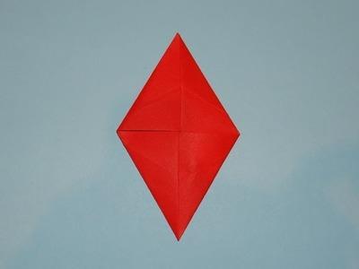How To Make An Origami Christmas Diamond