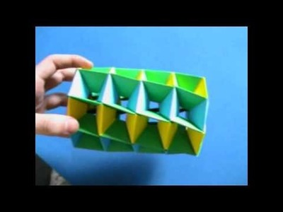 How to make Origami twisted tower (animation)