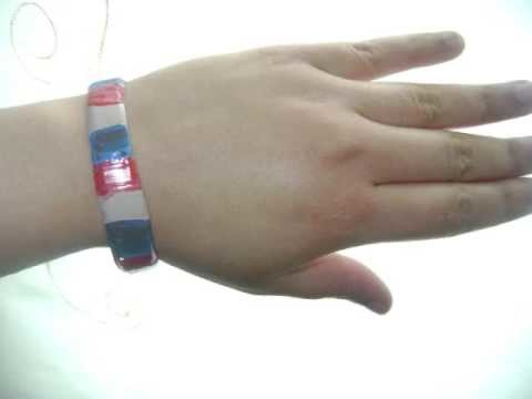 How to Make Patriotic Recycled Water Bottle Bracelets - EP