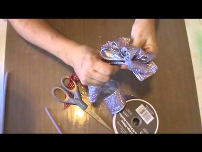 How to tie a floral bow
