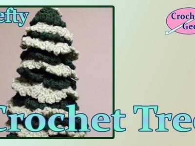 Left Hand Crochet Christmas Holiday Tree Crochet Geek