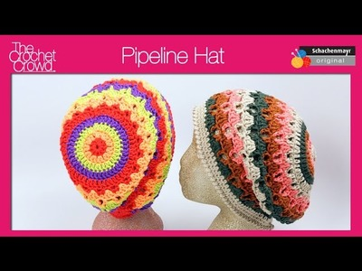 Left Hand: Pipeline Crochet Hat Tutorial