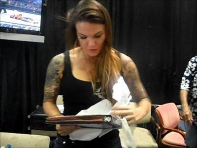 Lita Opening My Scrapbook