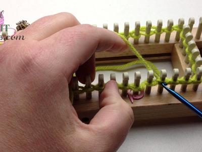 Loom Knit Cast On: Scalloped Cast On