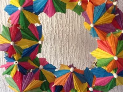 Make a Cute Paper Umbrella Wreath - Home - Guidecentral