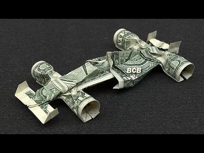 Money Origami Vehicles: Formula 1 Race Car, Excavator and Bulldozer Dollar Bill Art