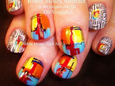 Nail Art Tutorial | DIY Rainbow Nails | Geometric Abstract Nail Design