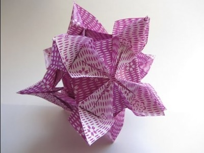 Origami Kusudama Diamond Flower