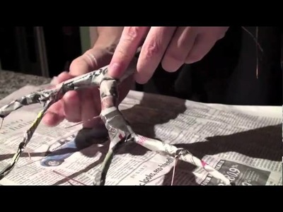 Origami Rose Bush Bonsai -1 - Trunk