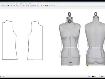 Pattern Manipulation: Transform a basic knit top with underbust seaming and body draping