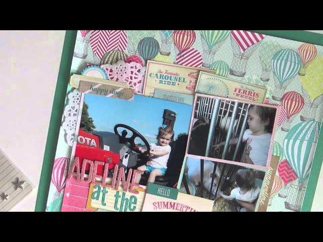 Scrapbooking Process #15: Adeline at the Fair