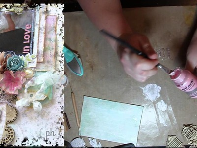 Shabby Chic Scrapbooking Techniques Ideas Tutorial with Amy Prior