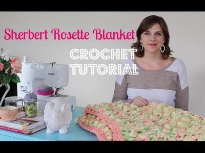 Sherbert Rosette Blanket Crochet Tutorial | Sewrella