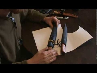 Side Seam Knive Sheath : A How To