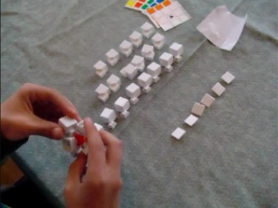 White cube4you 3x3x3 diy cube assembly and stickering video
