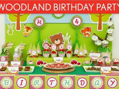 Woodland Animal Birthday Party Ideas. Woodland - B38