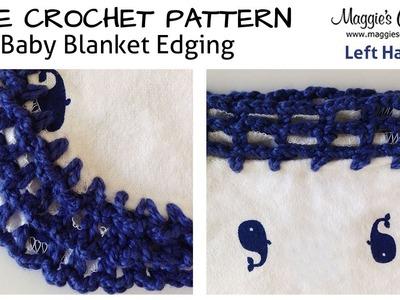 Baby Blanket Edging Tutorial - Left Handed