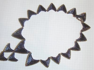 BeadsFriends: Peyote Stitch necklace - Beaded necklace with Peyote stitch arrows | Beaded Jewelry