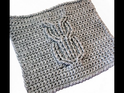 Cabled Owl Washcloth Free Pattern Workshop