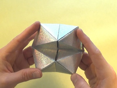 Cootie Catcher Flexahedron origami tutorial