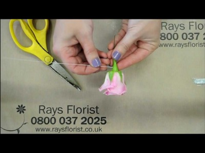 Create and Make a Rose Buttonhole, DIY Weddings, proms, parties. Comprehensive step by step guide