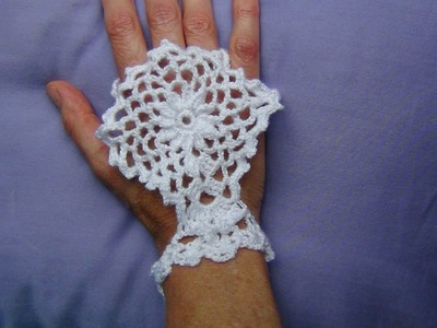 CROCHET FINGERLESS HAND.GLOVE ACCESSORY Part 1