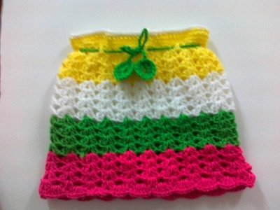 Crochet Rainbow Skirt -2