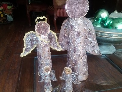 DIY Angelito con rollos de papel del baño. Angels made ​​from toilet paper rolls