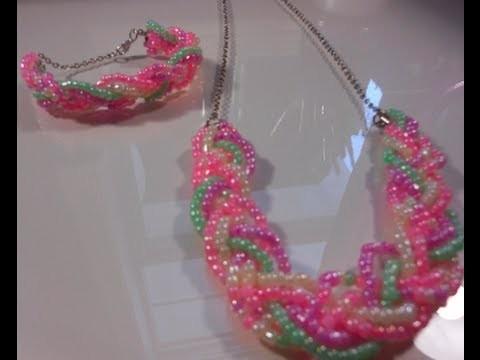 DIY: Braided Necklace and Bracelet Set! ♡ Theeasydiy #FashionDIY