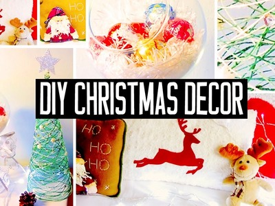 DIY Christmas room decorations! No-sew pillow, easy tree & more! Holiday decor
