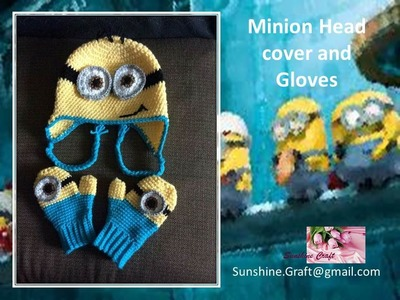 DIY - Crochet Minion Head cover and gloves