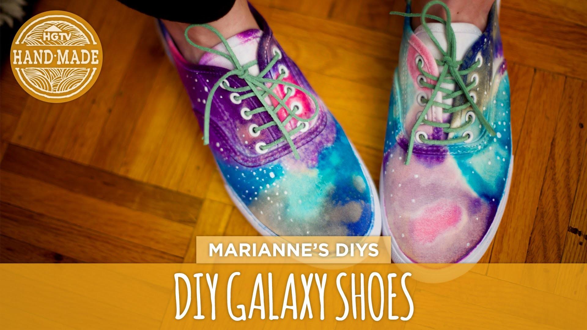 DIY Galaxy-Print Shoes - White Shoes Challenge Week - HGTV Handmade