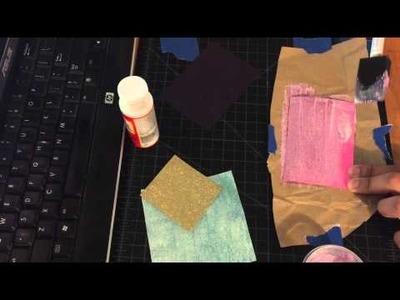 DIY Glitter Paper