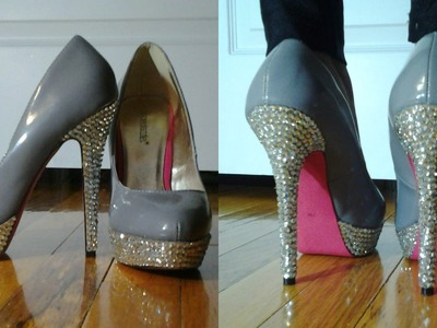 DIY How To Bedazzle. Bejwel. Bling your Shoes ✿ DIY Customize Your Shoes Tutorial ✿ Cute Shoes