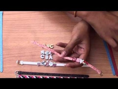 DIY how to make small slide letter bracelet jewelry www.ABC-JEWELRY.com
