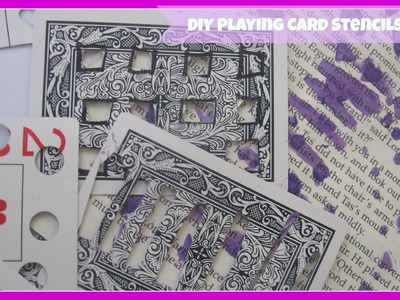 DIY.how to make your own stencils. How to make Stencils for playing cards  For mixed media art