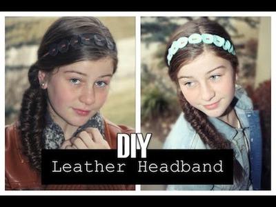 DIY Leather Headband | ShowMeCute