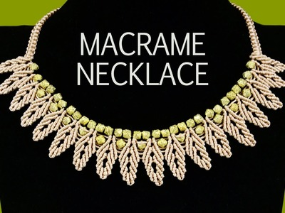 DIY: Macrame Necklace - Petal Chain with Beads