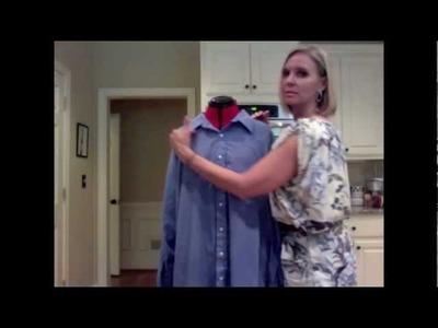 DIY Refashion Mens Dress Shirt