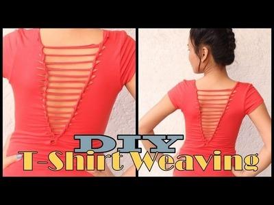DIY : T-Shirt Weaving. Laddering
