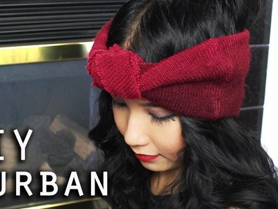DIY Turban Headband (From Recycled Old Beanie)