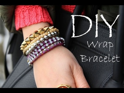 DIY Wrap. Stacked Friendship Bracelets EASY How To Make