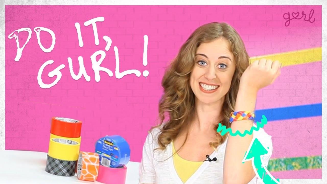 Do It, Gurl - Duct Tape Braided Bracelet