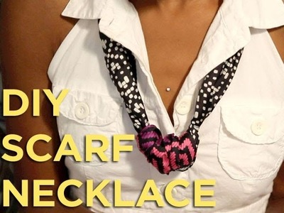 "Do-it-Yourself  ""DIY"" Scarf Necklace"