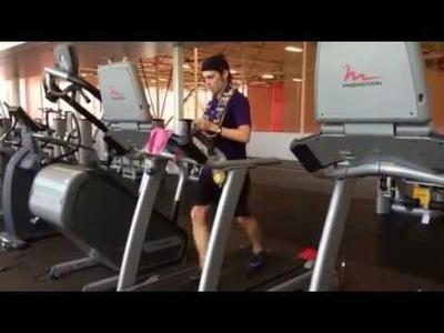 Double finger knit treadmill